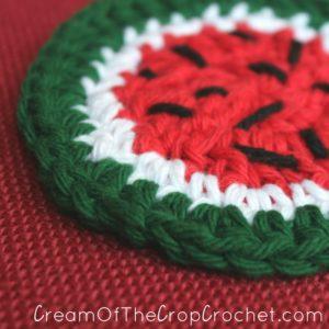 Cream Of The Crop Crochet ~ Watermelon Face Scrubbie {Free Crochet Pattern}
