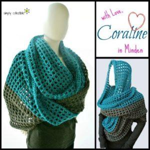 Coraline in Minden cowl wrap