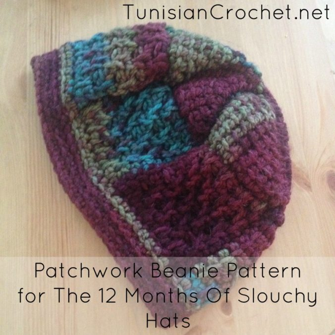 Cream Of The Crop Crochet ~ Patchwork Beanie Pattern {The 12 Months Of Slouchy Hat}