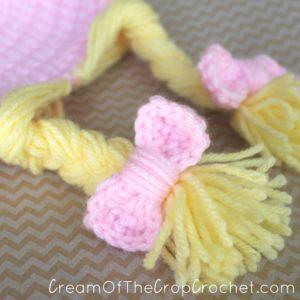 Cream Of The Crop Crocheet ~ Preemie/Newborn Braided Hair Hats {Free Crochet Pattern}