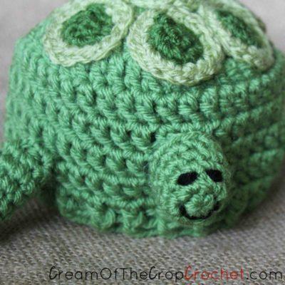 Preemie Newborn Turtle Hat Crochet Pattern