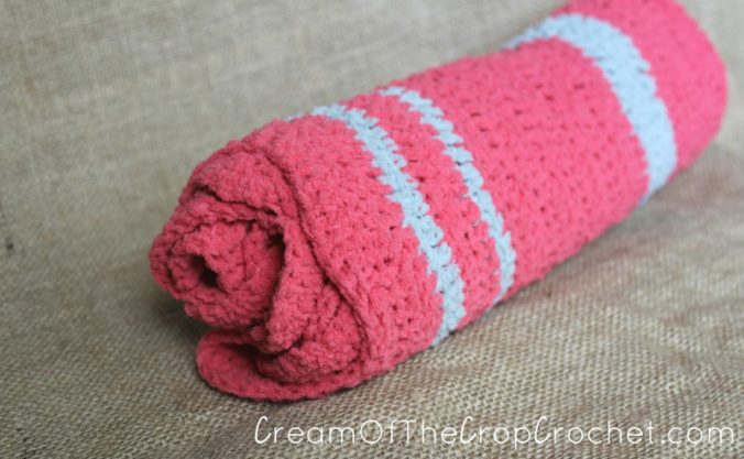 Cream Of The Crop Crochet ~ Ripple Preemie Blanket {Free Crochet Pattern}