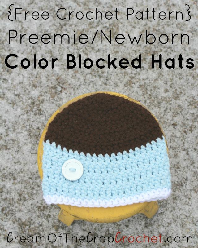 Preemie Newborn Liam Hat Crochet Pattern