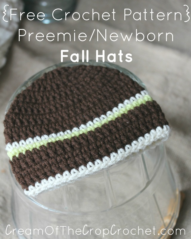 Preemie Newborn Fall Hat Crochet Pattern
