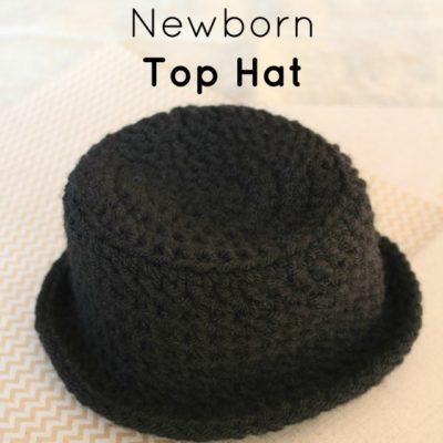 Newborn Top Hat Crochet Pattern