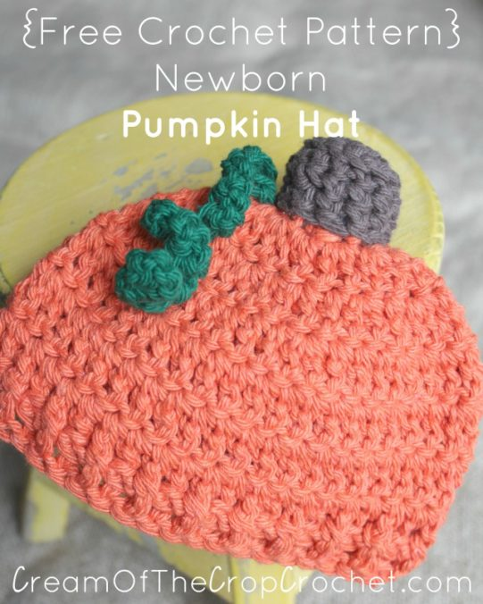 Free Newborn Pumpkin Hat Crochet Pattern : Newborn Pumpkin Hat Crochet Pattern Cream Of The Crop ...