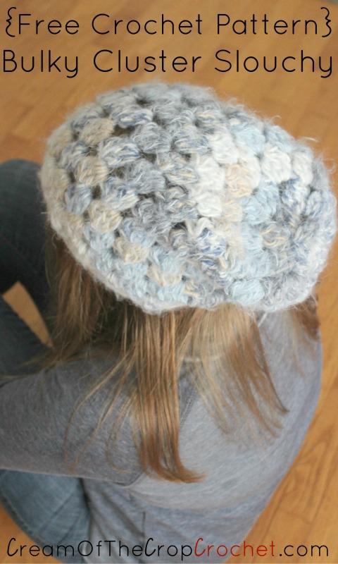 Bulky Cluster Slouchy Crochet Pattern