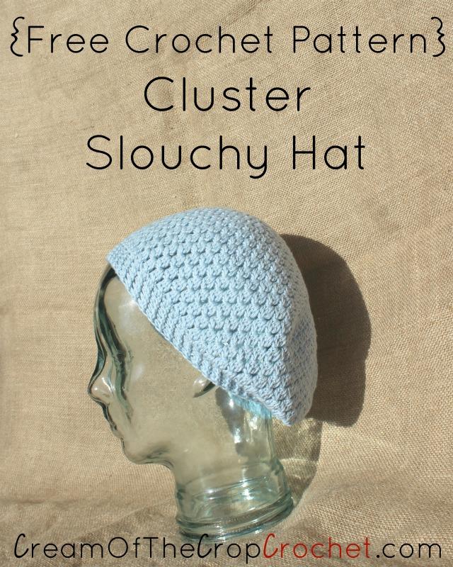 Cluster Slouchy Hat Crochet Pattern