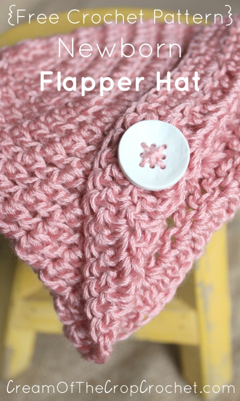 Newborn Flapper Hat Crochet Pattern