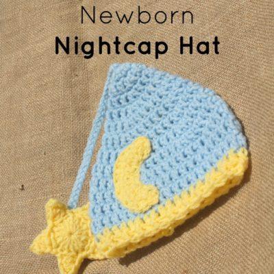 Newborn Nightcap Hat Crochet Pattern