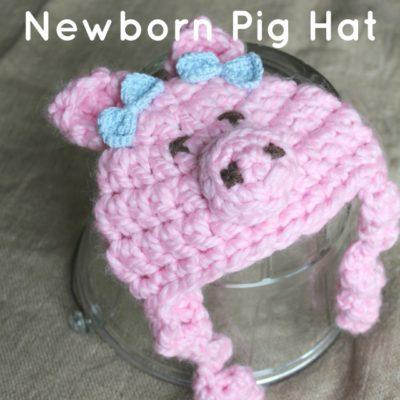Newborn Pig Hat Crochet Pattern