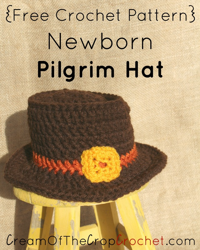 Newborn Pilgrim Hat Crochet Pattern