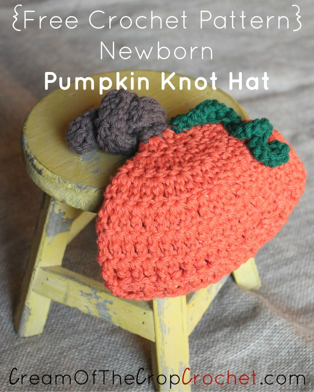 Newborn Pumpkin Knot Hat Crochet Pattern