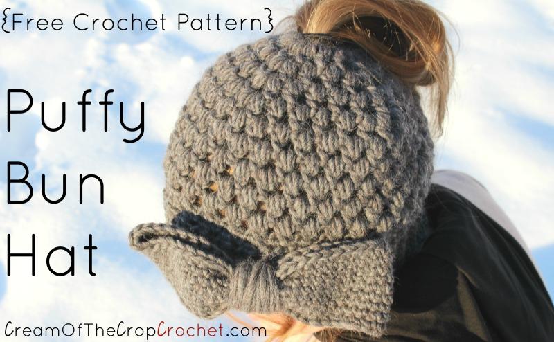 Makenzie Bun Hat Crochet Pattern