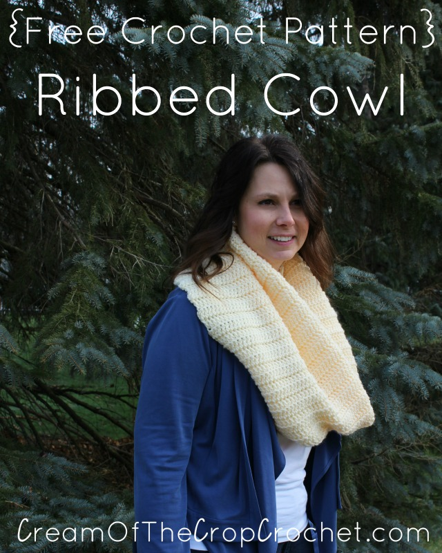 Ribbed Cowl Crochet Pattern