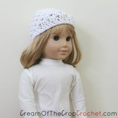18 Inch Doll Cameron Hat Crochet Pattern