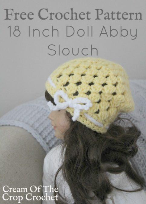18 Inch Doll Abby Slouch Crochet Pattern   Cream Of The Crop Crochet