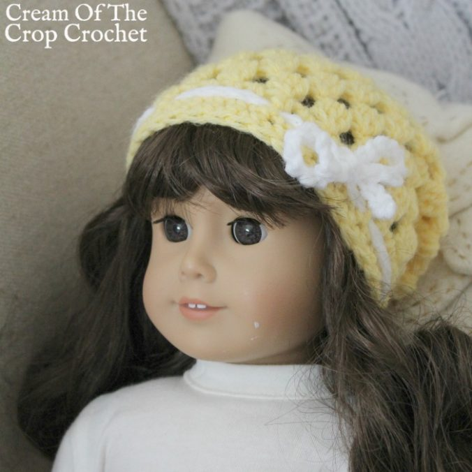 18 Inch Doll Abby Slouch Crochet Pattern | Cream Of The Crop Crochet