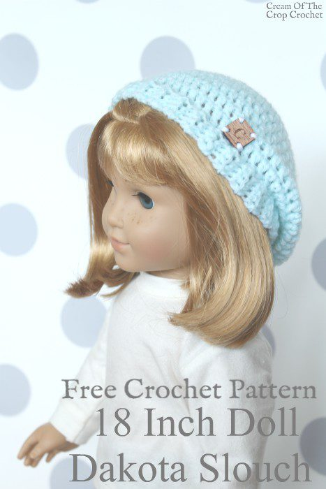 18 Inch Doll Dakota Slouch Crochet Pattern | Cream Of The Crop Crochet