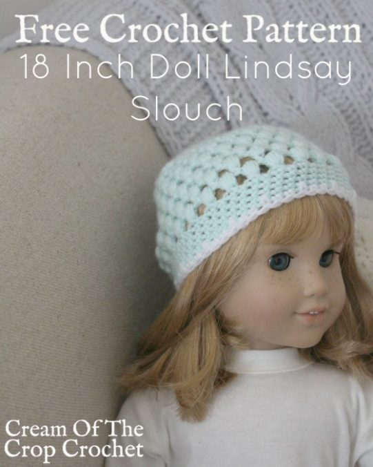 18 Inch Doll Lindsay Slouch Crochet Pattern | Cream Of The Crop Crochet