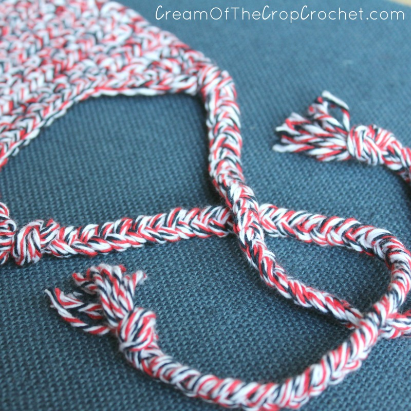 4th Of July Braided Bib Crochet Pattern
