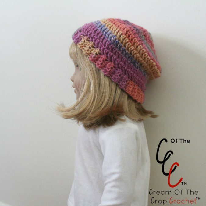 18 Inch Doll Artsy Hat Crochet Pattern | Cream Of The Crop Crochet