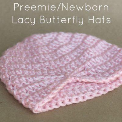 Preemie Newborn Lacy Butterfly Hat Crochet Pattern