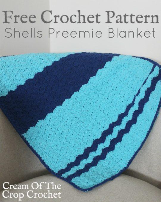 Shells Preemie Blanket Crochet Pattern | Cream Of The Crop Crochet