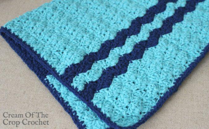 Shells Preemie Blanket Crochet Pattern   Cream Of The Crop Crochet