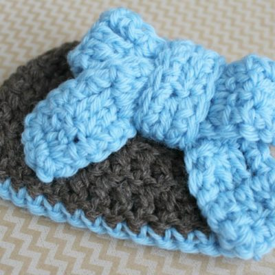 18 Inch Doll Big Bow Hat Crochet Pattern
