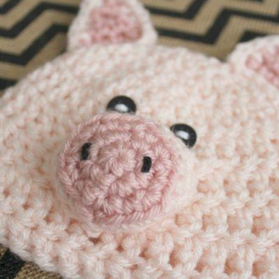 18 Inch Doll Pig Hat Crochet Pattern