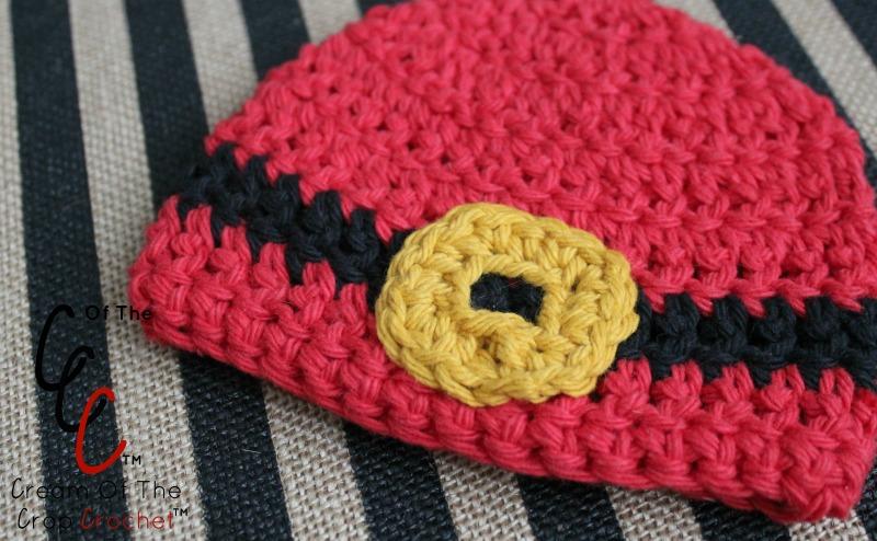 18 Inch Doll Santa Belt Buckle Hat Crochet Pattern