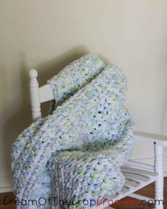 Fluffy Clouds Baby Blanket Crochet Pattern   Cream Of The Crop Crochet