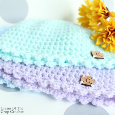 Picot Newborn Hat Crochet Pattern Video Tutorial