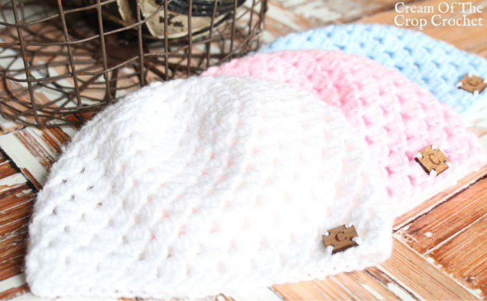 Cluster Newborn Hat Crochet Pattern | Cream Of The Crop Crochet