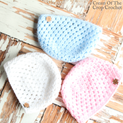 Cluster Newborn Hat Crochet Video Tutorial