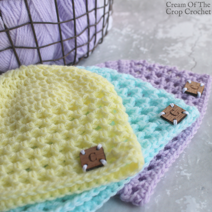 Mesh Newborn Hat Crochet Video Tutorial | Cream Of The Crop Crochet