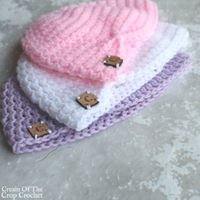 Turban Newborn Hat Crochet Video Tutorial
