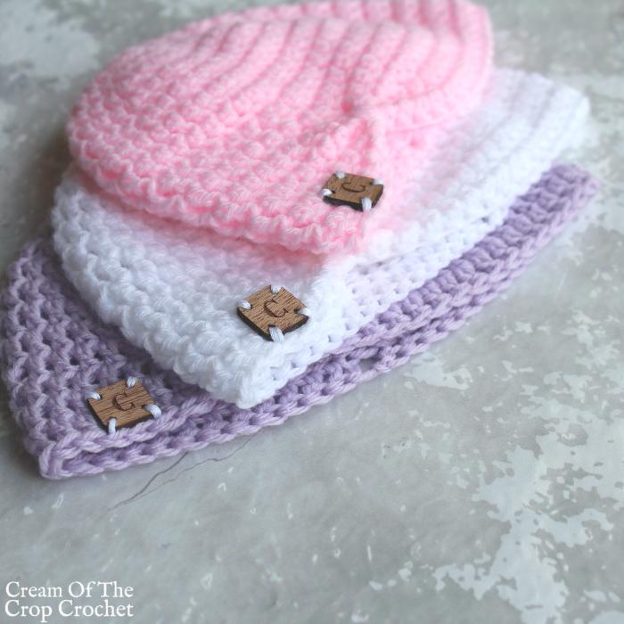 Turban Newborn Hat Crochet Video Tutorial | Cream Of The Crop Crochet