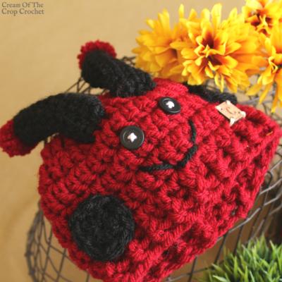Dot the Ladybug Hat Crochet Pattern