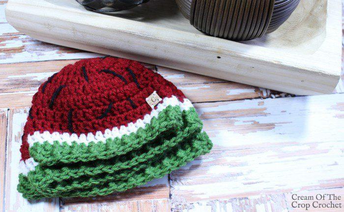 Watermelon Hat Crochet Pattern   Cream Of The Crop Crochet