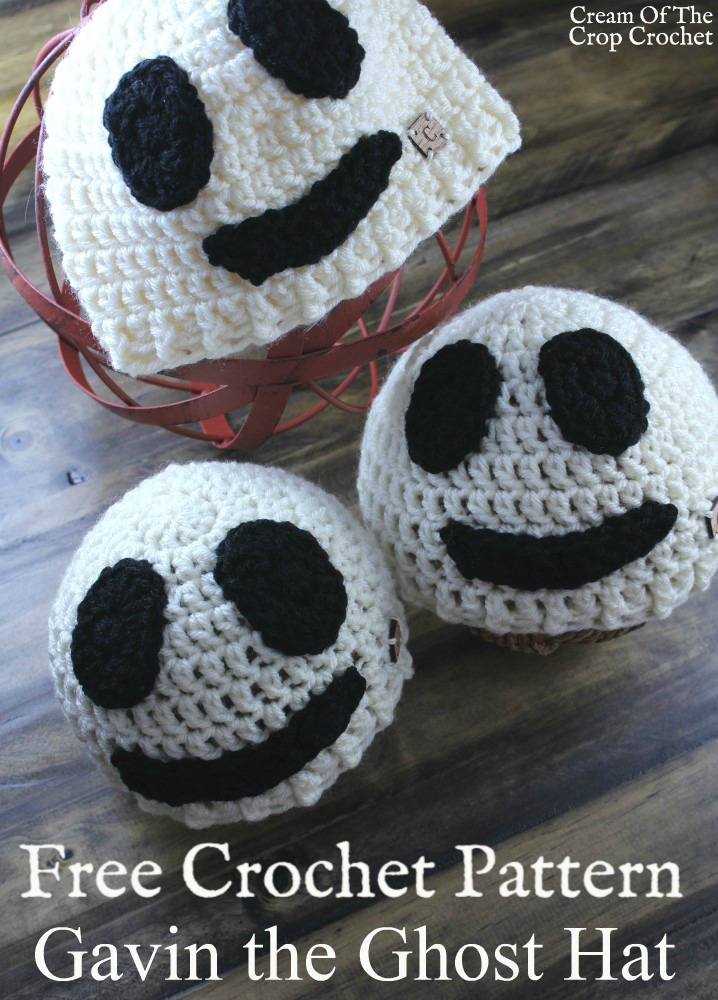 Gavin the Ghost Hat Crochet Pattern | Cream Of The Crop Crochet