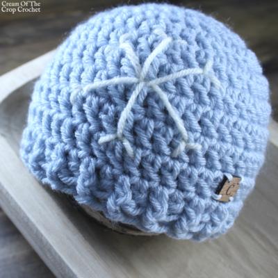 Snowflake Hat Crochet Pattern