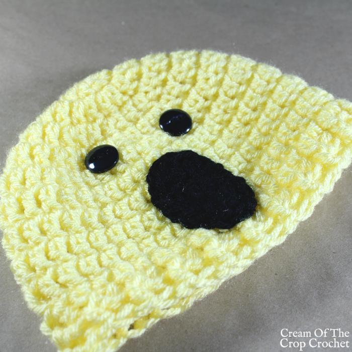 Surprise Face Emoji Hat Crochet Pattern | Cream Of The Crop Crochet