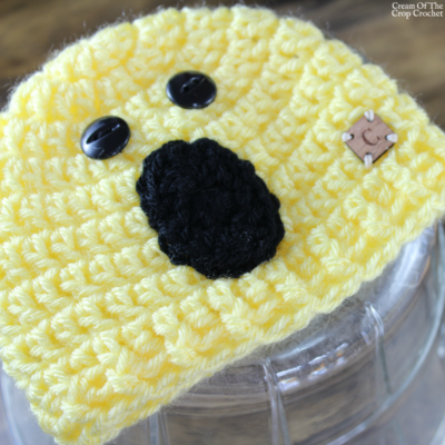 Surprised Face Emoji Hat Crochet Pattern